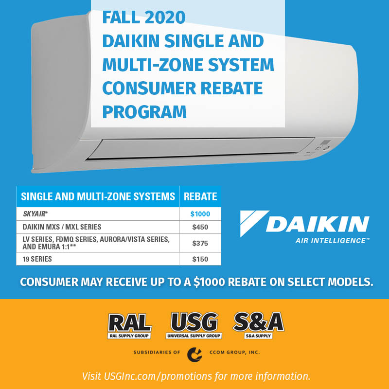 Daikin Ductless Fall 2020 promotion